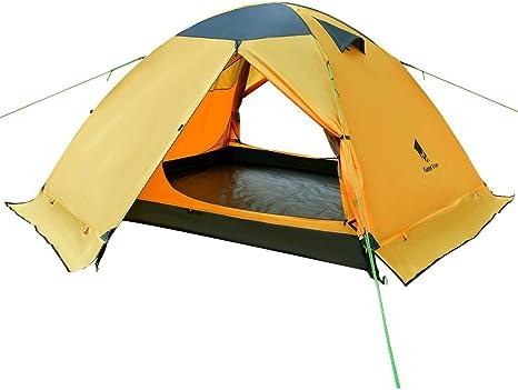 GEERTOP - Tienda de campaña para 3 personas y 4 estaciones, doble capa impermeable para caza, senderismo, escalada, viajes, fácil de instalar: Amazon.es: Deportes y aire libre