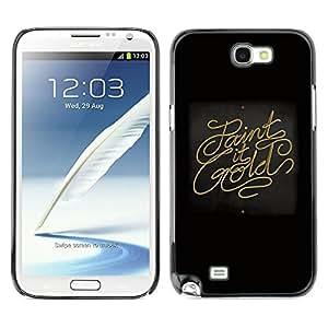 YiPhone /// Prima de resorte delgada de la cubierta del caso de Shell Armor - Paint It Gold - Samsung Galaxy Note 2 N7100