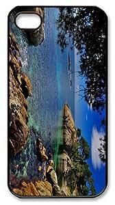 cheap case costa brava coast spain PC Black Case for iphone 4/4S