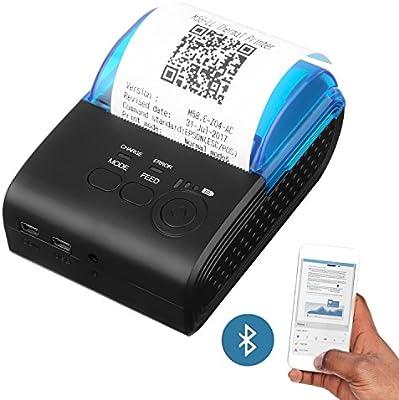 Powerlead Mini Impresora Térmica Directa Inalámbrica Portátil de ...