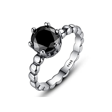 274ff94ca Doti Style 925 Sterling Silver Black Spinel Bubble Ring: Amazon.co.uk:  Jewellery