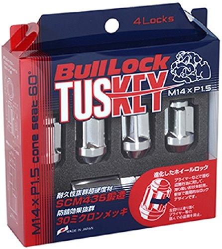 KYO-EI (協永産業) BullLock TUSKEY ロックナット M14XP1.5 4P メッキ T600 B078JHL7SZ