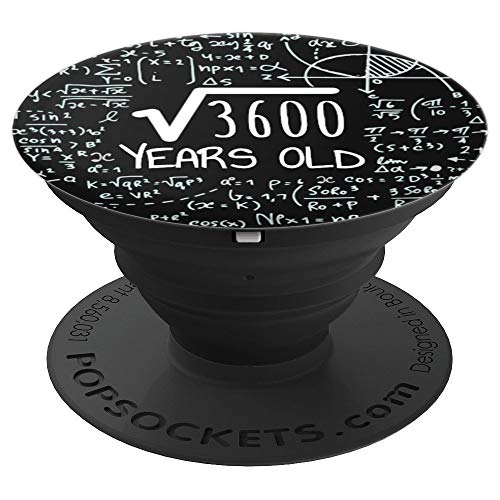 Square Root of 3600: 60 Years Old, 60th Birthday Gift - PopSockets Grip and Stand for Phones and Tablets