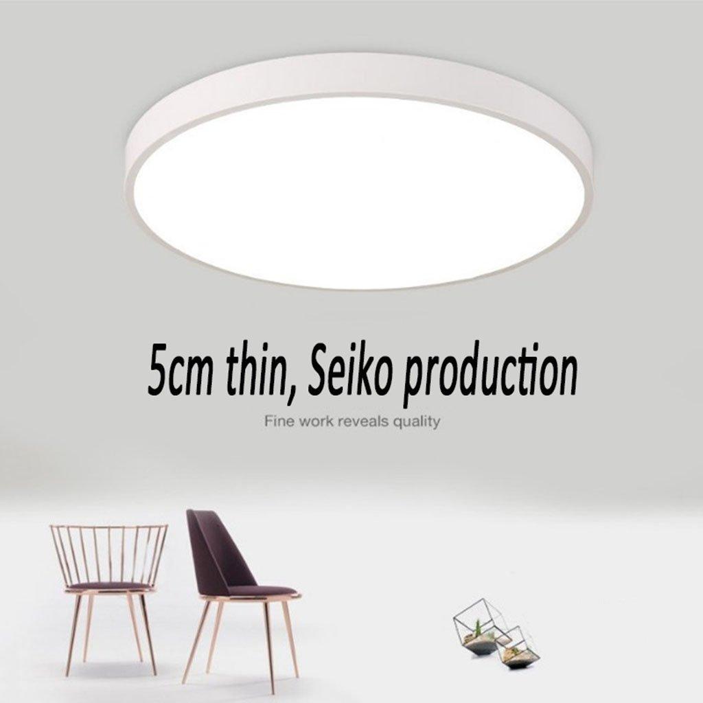 & led deckenleuchte Led-deckenleuchte 6000-6500 Karat Moderne weiße Runde Leselampe Wohnzimmer Schlafzimmer Deckenleuchte Beleuchtung Energy Star (Farbe   Weiß-30cm)