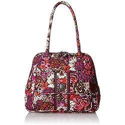 Vera Bradley Turn Lock Satchel Bag, Rosewood, One Size
