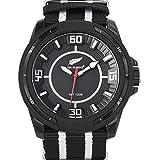 All Blacks - 680252 - Montre Homme - Quartz Analogique - Cadran Noir - Bracelet Synthétique Bicolore