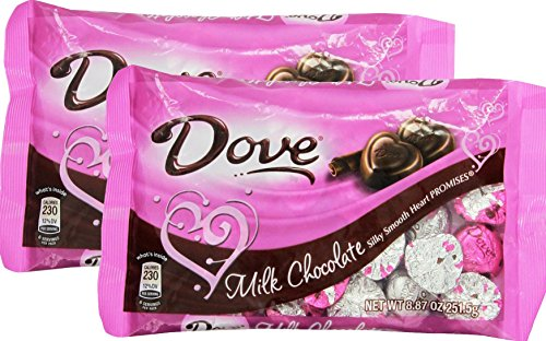 Dove Valentines Heart Promises, Milk Chocolate, 8.87-Ounce Package (Pack of 2)