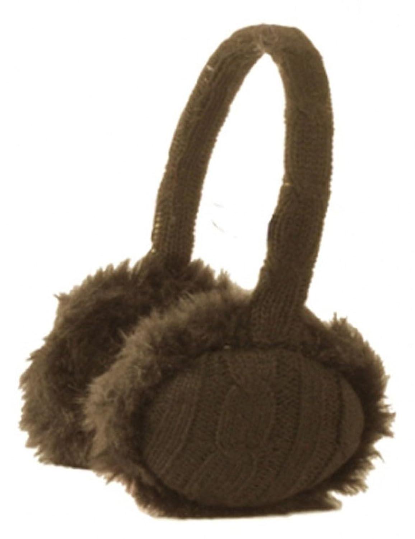 Women Girl Fluffy Faux Fur Trim Polyester Ear Warmers