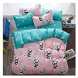 KFZ Baby Panda Duvet Cover Full Set, 1 80'x86' Duvet Cover (Without Comforter Insert) and 2 Pillow Cases, Cute Bedding for Kids