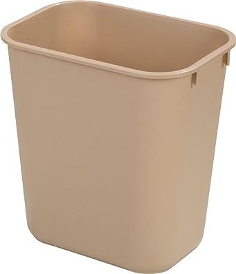 Carlisle 34291306 Polypropylene Office Waste Basket, 13qt Capacity,  11 1/2u0026quot;