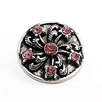 Amazon.com  MAGA 1 New 10pcs lot Snaps Buttons 18mm Vintage Rhinestone  Flowers Shape Snap Fit Leather Bracelet Snap Jewelry  Kitchen   Dining 583cec9d3a91