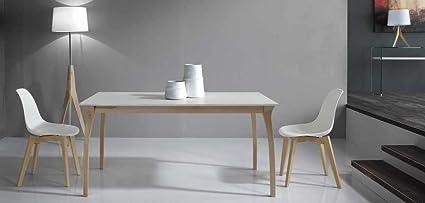 Maly Tavolo allungabile design 160x90 Naturale Bianco Frassinato ...