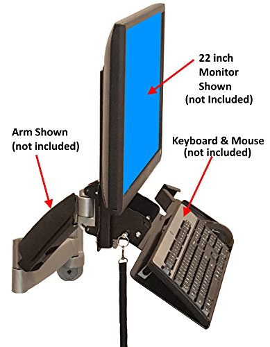 - SDS iMount 4.0 Keyboard & Monitor Wall Mount w/Tilt, Fold Away Adjustable Tray System 7x18 Tray + Mouse Ext. (Mounts Directly to The Wall) Manufactured in Michigan