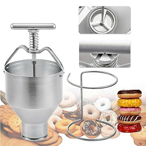 35mm With 6 Adjustment Manual Donut Depositor Dropper Plunger Dough Batter Dispenser Hopper