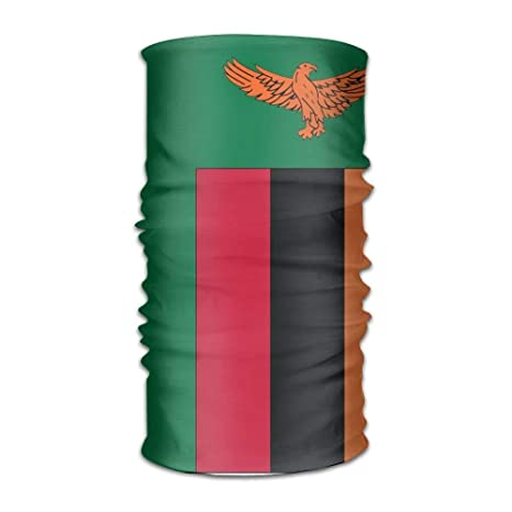 Flag Of Zambia Unisex Sports Variety Scarf Head Scarf: Amazon.es ...