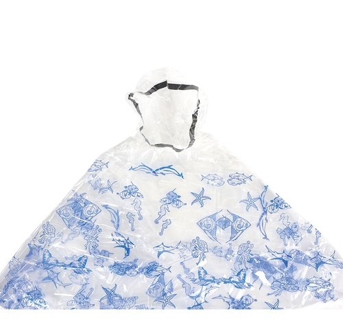 50''x37'' BLUE SEALIFE PONCHO, Case of 50 by DollarItemDirect