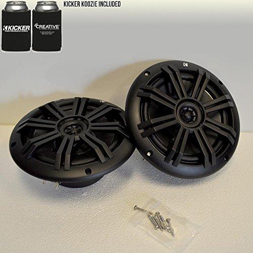 KICKER Black OEM Replacement Marine 6.5 4 Ohm Coaxial Speakers
