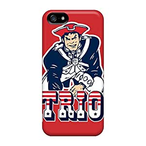 Iphone 5/5s Cases Covers - Slim Fit Tpu Protector Shock Absorbent Cases (new England Patriots)
