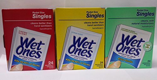 Wet Ones 24 Singles Variety (Scent Single Pack)