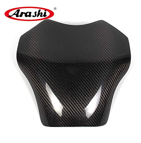 Arashi For Kawasaki Ninja ZX10R 2006-2011 Carbon Fiber Fuel Gas Tank Cover Protector Guard Motorcycle Accessories ZX-14R ZX 14R Black 2007 2008 2009 2010