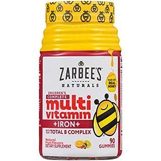 Zarbee's Naturals Children's Complete Multivitamin + Iron, Fruit Flavors, 90 Gummies