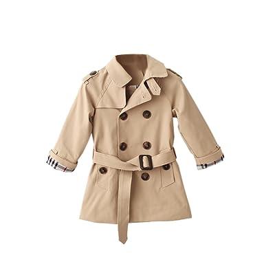 Dr. Mama filles de coupe-vent Veste avec medio-larga Double botonadura pour le printemps et l'automne (matériau: coton) altura-110-pecho-29 caqui-110