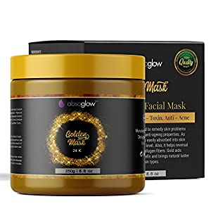 Absoglow 24K Gold Facial Mask, Ancient Gold Face Mask Formula Reduces the Appearances of Wrinkles and Fine Lines, Helps with Acne and Firming Up Skin- 8.8 Oz