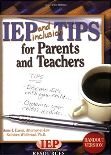 Iep Tips For Parents >> Amazon Com Iep And Inclusion Tips For Parents And Teachers Handout