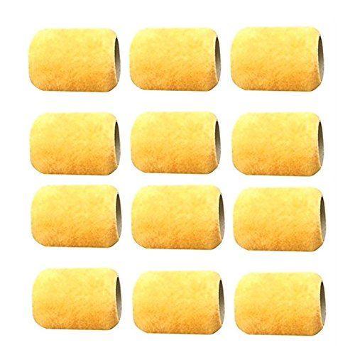 12 Mini 3'' ALAZCO Paint Roller Refill Covers ''NO SHED'' for Painting Trims, Edges, Corners, Small Areas by ALAZCO