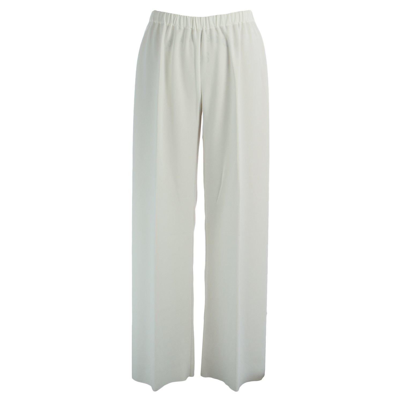 Marina Rinaldi Women's Round Elastic Waist Palazzos 16W / 25 White