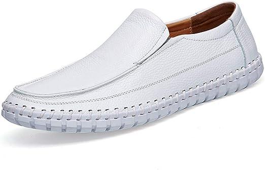 YXD Zapatos de Cuero para Hombres, Mocasines de