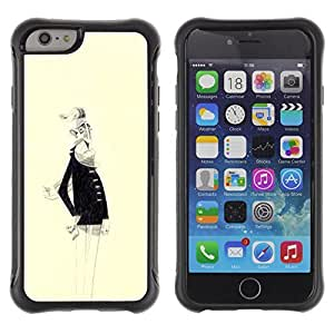 Be-Star Unique Pattern Anti-Skid Hybrid Impact Shockproof Case Cover For Apple iPhone 6(4.7 inches) ( Old Man White Beard Portrait Art Drawing ) Kimberly Kurzendoerfer