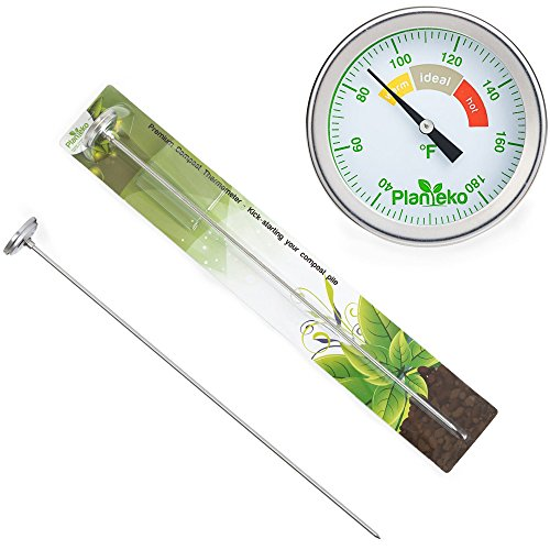 Compost thermometer premium stainless steel soil for Soil thermometer