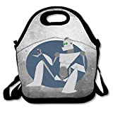 Bakeiy The Iron Giant Logo Lunch Tote Bag Lunch Box Neoprene Tote For Kids And Adults For Travel And Picnic School