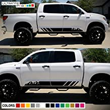Decal Sticker Graphic Left and Right Side Stripes Compatible with Toyota Tundra 2007-2017