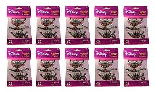 10x Disney Princess Bracelet & Necklace Charm Kids Toy New B