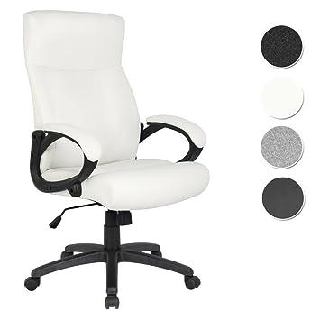 Schreibtischstuhl weiß  SixBros. Bürostuhl Chefsessel Drehstuhl Schreibtischstuhl Weiß ...