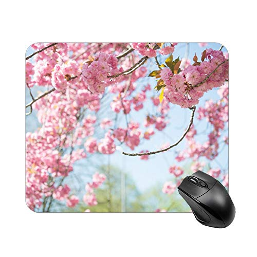 Atunme Mouse Pad Tilt Shift Photography of Cherry Blossoms Mousepad Non-Slip Rubber Gaming Mouse Pad Rectangle Mouse Pads for Computers Laptop]()