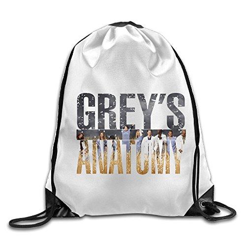 Bekey Grey Anatomy Drawstring Backpack Sport Bag For Men & Women For Home Travel Storage Use Gym Traveling Shopping Sport Yoga Running