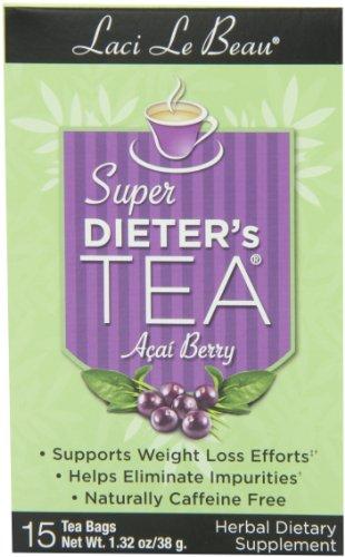 Laci Le Beau Super Dieter's Tea, Acaiberry, 15 Count Box (Pack of 2)
