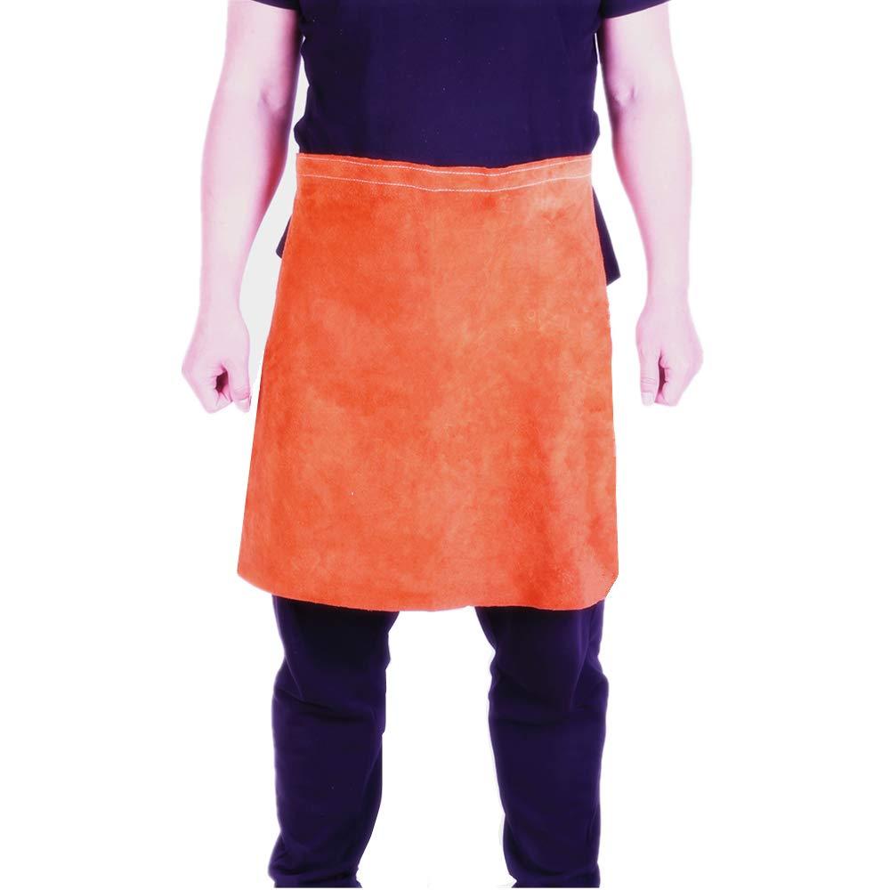 FULANGDE Premium Brown Heat Resistant Split Cowhide Leather Welding Waist Apron (24'' Width x 24'' Length)