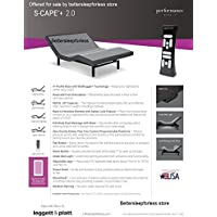 Leggett and Platt S Cape+ Plus 2.0 Adjustable Bed Base! Free White Glove Delivery! Includes Extended 10 year inhome Warranty! 25 year Total warranty! (Queen (60x80))