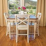 Bronwen Dark Brown & Antique White Dining Table
