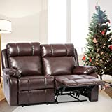 BestMassage Recliner Sofa Loveseat Leather Sofa Recliner Couch Manual Reclining Sofa Recliner Chair, Love Seat, and Sofa for Living Room Home Furniture