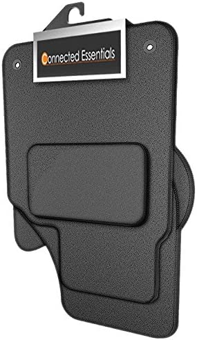 Premium Connected Essentials 5032603 Tailored Heavy Duty Custom Fit Car Mats Grey with Black Trim