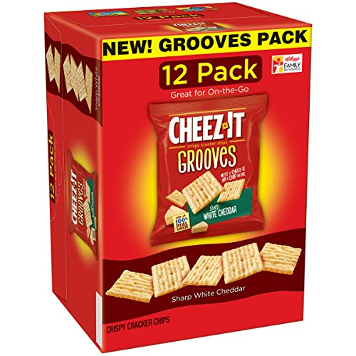 Sharp White Cheddar - Cheez-It Grooves Crispy Snack Crackers, Sharp White Cheddar, 12 Ounce