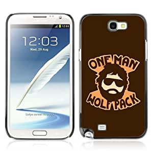 Designer Depo Hard Protection Case for Samsung Galaxy Note 2 N7100 / Hangover One Man Wolf Pack