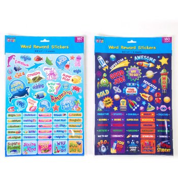 DDI 1946573 Reward Stickers with Words and Die Cut Figures Case of 48