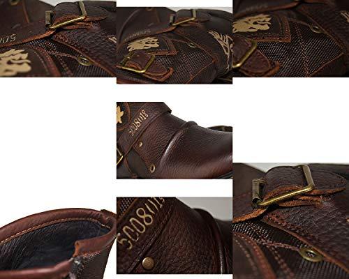 Retro 5 Smilinggirl La Herramientas Tendencia Martin Botas Cuero Masculina De Los Hombres 10 Moda brown Altas w1Hwzq