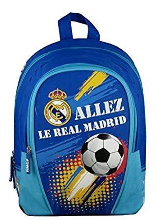 Real Madrid - Mochila Infantil, Azul, 32 cm: Amazon.es: Deportes y aire libre